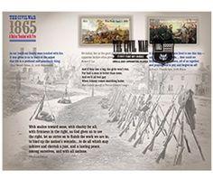 150th-Ann-Civil-War-USPS-Stamps-Appomattox-photo-SIGNED-MNH