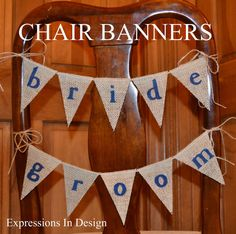 Wedding Chair Banner  /  Burlap Banner  /  by expressionsindesign, $17.00