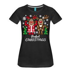 Perfect Christmas. T-Shirt mit dem weihnachtlichen Hirsch-Design. T-Shirts mit witzigen Motiven für die Leute, die Spass verstehen. Geschenkideen zum Geburtstag, zu Weihnachten, zum Oktoberfest oder zum Junggesellenabschied. Besuchen Sie unser Shop: http://scharfe-auftritte.spreadshirt.de #weihnachten #christmas #xmas #gifts #fashion #tshirts #hirsch #deer #rudolph #weihnachtsmann #santa #santaclaus #weihnachtsbaum #lustug #humor #merrychristmas #froheweihnachten