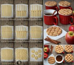 How To Make Pie Crust Mug Toppers Step By DIY Tutorial Instructions
