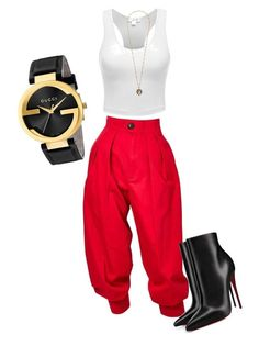 It's Gucci! by mleben on Polyvore featuring polyvore fashion style Yves Saint Laurent Christian Louboutin Gucci clothing