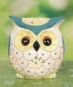Take a look at this Blue & White Owl Candleholder by Transpac Imports on #zulily today!