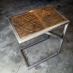 Rustic modern accent table