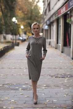 платье PIETRE – купить или заказать в интернет-магазине на Ярмарке Мастеров   Очень мягкое , комфортное платье из итальянского…