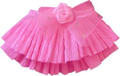 Pink crepe paper skirt
