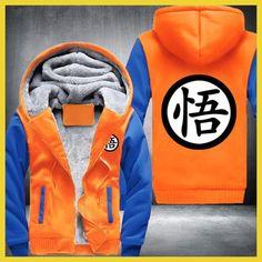 USA size Men Women New Design Anime Dragon Ball Goku Cartoon Jacket Thicken Hoodie Zipper Winter Fleece Unisex Coat