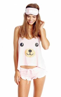 0d402c1055 Wildfox Teddy Girl Cami Pajama Set Found on my new favorite app Dote  Shopping…