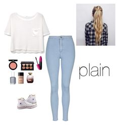 """""""plain"""" by alexbetancourt on Polyvore featuring MANGO, Topshop, Converse, Armani Beauty, Revlon, Essie, MAKE UP FOR EVER and Nina Ricci"""
