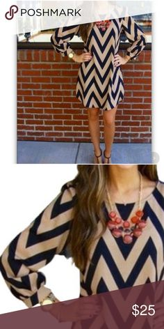 """Summer Wave Print Shift Dress. So Pretty. Summer Wave Print Shift Dress. So Pretty. Bust 34"""". Sleeve length 22"""". Dress length 31"""". Comfy yet sophisticated. FIRM Price. Dresses Mini"""