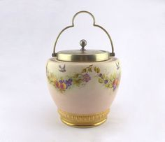 Victorian Era Biscuit Barrel W. Wood and Co by GoldcrestVintage