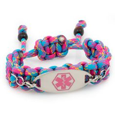 Party Girl Paracord Medical ID Bracelet #paracord #medical_ID #laurenshope