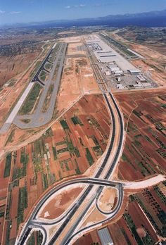 Athens International Airport from above, Athens, Greece Airport Architecture, Athens Airport, Airport Design, Civil Aviation, Athens Greece, What A Wonderful World, International Airport, Greek Islands, Aerial View