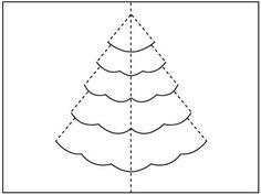 Christmas Tree Pop Up Card Printables