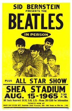 "Speaking of underwater - 1965 Beatles Concert Poster - ""We All Live in a Yellow Submarine!"""
