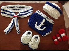 Infant Crochet Knitted,Little Navy Hat & Diaper Cover Shoes Set ,Newborn Party Costume,Photo Props For Baby Shower,Baby Photo Prop Outfit Newborn Crochet, Crochet Baby Hats, Crochet Gifts, Crochet Clothes, Knit Crochet, Crochet Outfits, Free Crochet, Baby Shooting, Baby Kostüm