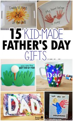 15 Kid-Made Father's Day Crafts perfect fathers day gift, fathers day gifts from daughter daddys girl, birthday dad gift You are in the right place about DIY Father's Baby Crafts, Preschool Crafts, Crafts For Kids, Kids Diy, Fathers Day Art, Happy Fathers Day, Preschool Fathers Day Gifts, Toddler Fathers Day Gifts, Fathers Day Ideas
