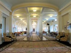 The Great Hall, Mount Washington Hotel, Bretton Woods, New Hampshire-- I stayed here in Oct Hotels And Resorts, Best Hotels, Luxury Resorts, Mount Washington Hotel, Best Boutique Hotels, Hotel Interiors, Lobbies, Hotel Lobby, Beautiful Hotels