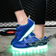 Amazon.com | NIKOO Wings LED Light Up Shoes Rechargeable Sneakers Flashing Sneakers for Kids Boys Girls | Fashion Sneakers