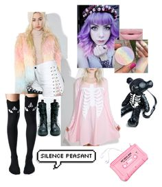 """""""dollskill.com"""" by bisexualturtle ❤ liked on Polyvore featuring Demonia, Glamorous, Killstar, Current Mood, Iron Fist, Tripp, Lazy Oaf and Morphe"""
