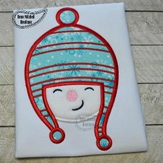 Snowman in Hat Applique - 3 Sizes!   What's New   Machine Embroidery Designs   SWAKembroidery.com Beau Mitchell Boutique