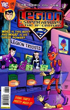 Legion of Super-Heroes in the Century 16 DC Comic Book cover Modern Age Dc Comic Books, Comic Book Covers, Saturn Girl, Legion Of Superheroes, Comics Universe, Silver Age, Marvel Dc, Dc Comics, Adventure