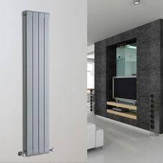 Rapture Aluminium Design Radiator 1600mm x 318mm -1520 Watt - Mat Zilver - Image 1