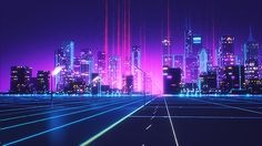 Retrowave, a short style promo animation created in Cinema by Florian Renner. Florian Renner is a German freelance designer working in the fields Neon City, Pixel Art, Neon Noir, Cyberpunk City, Cyberpunk Aesthetic, 80s Design, Film D'animation, Neon Aesthetic, Retro Waves