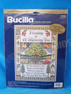 Bucilla Counted Cross Stitch Friendship is a Sheltering Tree Joan Elliott 42078  in Crafts, Needlecrafts & Yarn, Cross Stitch & Hardanger, Kits | eBay