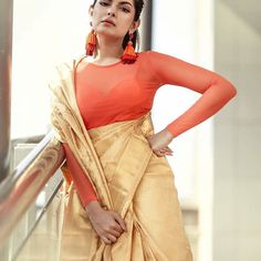 b32d6c89ac1ef 8 Classic Saree Colors That You Can Always Wear To Office! • Keep Me Stylish