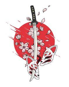 Japanese Drawings, Japanese Artwork, Japanese Tattoo Designs, Japanese Tattoo Art, Japan Tattoo Design, Tattoo Design Drawings, Art Drawings, Japan Illustration, Tattoo Illustration
