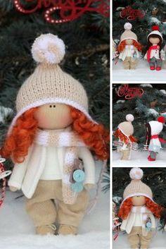Winter doll READY Christmas doll Fabric doll Baby doll Tilda doll Red doll Soft doll Cloth doll Textile doll Rag doll Interior doll by Olga: https://www.etsy.com/listing/486208782/winter-doll-ready-christmas-doll-fabric