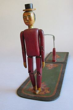 American Folk Art Articulated Dancing Man Late 19th early 20th Century