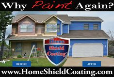 Why Paint Again? Home Shield Coating® is designed to be a money saving alternative to painting or staining. www.HomeShieldCoating.com  #HomeShieldCoating #WhyPaintAgain #PaintingCedarSiding #PermanentCoatingSystem Home Shield, Cedar Siding, Saving Money, Shed, Alternative, Outdoor Structures, Exterior, Coat, Painting