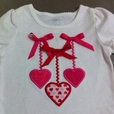 Machine appliqué Valentine shirt