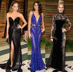 Models @ The Vanity Fair Oscar Party 2014 wearing Naeem Khan, Zuhair Murad, Dolce & Gabbana  #fashion