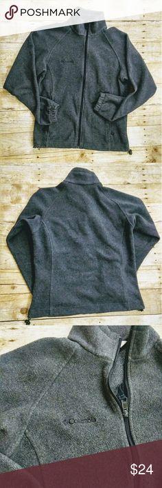 Grey Columbia Sportswear Fleece Jacket Good preloved grey Columbia Sportswear fleece jacket in size small.   Length approximately 22.75ins; Width approximately 17.75ins; Sleeve length 19ins Columbia Sportswear Jackets & Coats
