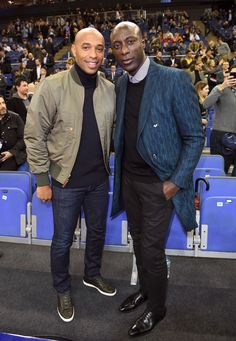 Thierry Henry and Ozwald Boateng