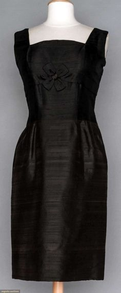 6a534ea1f0 Jeanne Lanvin fitted silk cocktail dress. 1960's. So totally Audrey  Hepburn. Augusta Auctions