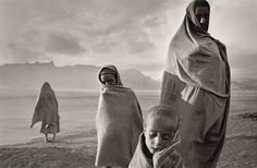 "Refugees, Ethiopia 1984. Photographer Sebastio Salgado from the book ""An Uncertain Grace"""