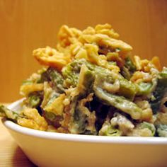 Green Bean Casserole Just a little different but everyone LOVES it! (No Mushroom Soup or French Fried Onions)