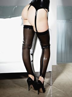 Latex Mistress Stockings by SkinTwoLatex on Etsy