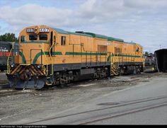RailPictures.Net Photo: 407 & 404 Maine Central GE U18B at Waterville, Maine by Gordon Willis