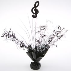 Music Notes Party Ideas | Shop for Black and White Music Note Centerpieces, Decorations ...