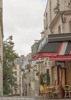 Paris Photgraphy, Charming Paris Cafe in Montmartre by iheartparisphotos on Etsy