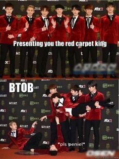 Kings of the red carpet #BTOB