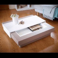 Colour Blend Living Coffee Table Grey and White