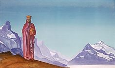 She Who Holds the World, 1933 by Nicholas Roerich. Symbolism. symbolic painting. The memorial apartments of Roerich family, Moscow, Russia