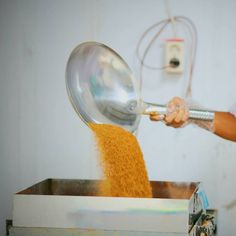 Coconut sugar is then cooled and 3rd sieving process (mesh 16) + magnetic trap. multiple sieving and magnetic traps are used to ensure no foreign material is present in the final product. product will the be carefully weighed and sealed under stringent conditions.