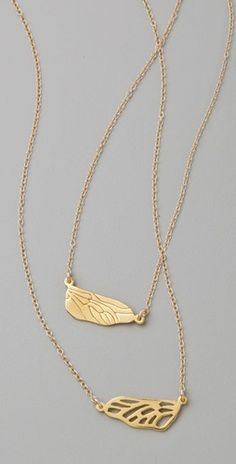 cute gift idea... friendship wing necklaces from shopbop.