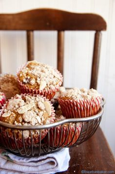 Left over roasted sweet potatoes perfectly combined for a morning treat - Streusel Sweet Potato Chocolate Chip Muffins | @Susan Salzman | www.theurbanbaker.com